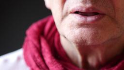 Ill Man Suffers Cold Symptoms Footage