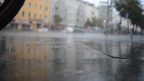 People Walk in the Rain Footage