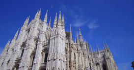 Milan Cathedral, Italy Footage