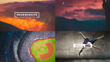 Clean Slideshow After Effects Template