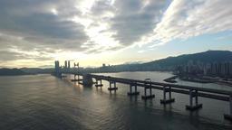 Gwangandaegyo Landscape, Busan, South Korea, Asia Live Action