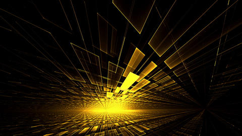 Yellow Geometrical Horizon with Burst of Light Animation