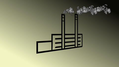 [alt video] Detail of pollution coming from factory smoke stacks