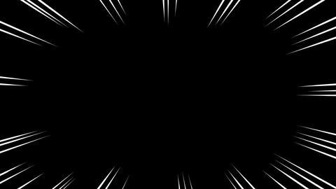漫画の集中線GB(白) CG動画
