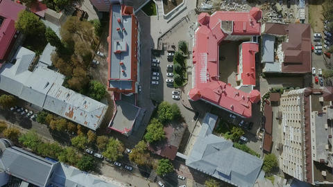 The city center. Guardian Angel of the City of the Cross. Aerial view. Russia, Footage