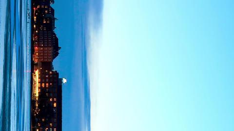 Vertical video. Waterfront views. Copenhagen, Denmark. Time Lapse Footage