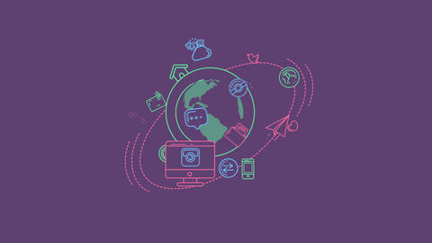 Global Digital World Infographic Animation