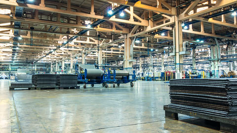 Timelapse Tyre Production Plant Workshop Work Footage