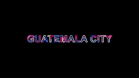 Letters are collected in capital name GUATEMALA CITY, then scattered into Animation