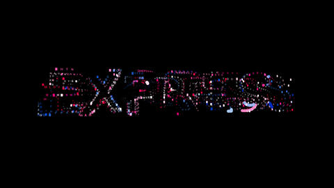 Letters are collected in text EXPRESS, then scattered into strips. Bright Animation