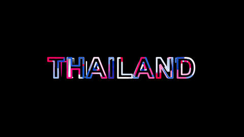 Letters are collected in country name THAILAND, then scattered into strips Animation