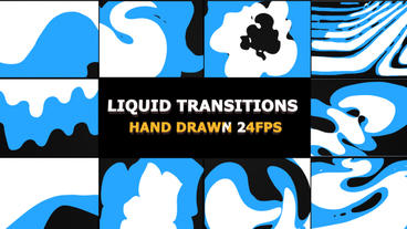 Funny Liquid Transitions After Effects Template