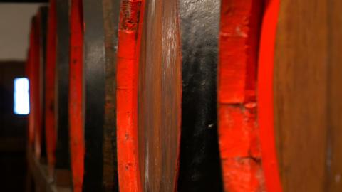 barrels of wine 4 K Footage