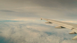 View Of The Clouds From The Airplane stock footage