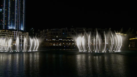 Dancing Fountain in Dubai Footage