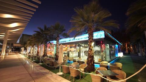 Modern cocktail bar and stylish restaurant at Malaga seaside Footage