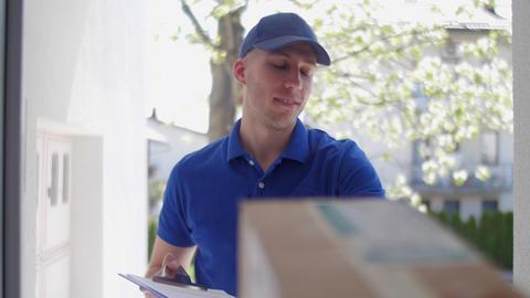 Delivery guy customer POV 03 Footage