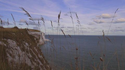 UK coastline at the white cliffs of Dover Live Action