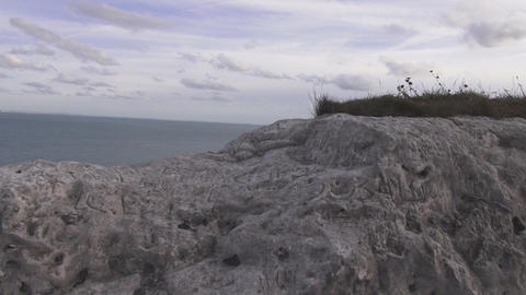 White Rock at the white cliffs of Dover Footage