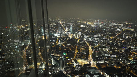 London by night view from The Shard - LONDON, ENGLAND Live Action