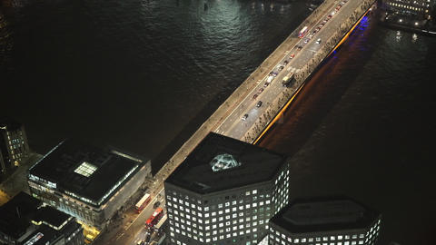 London Bridge from above - LONDON, ENGLAND Live Action