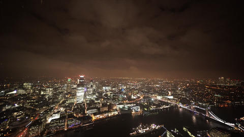 Dramatic sky over the City of London east - LONDON, ENGLAND Live Action