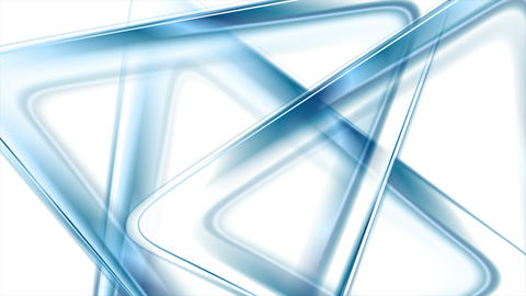 Blue glossy triangles abstract tech video animation Animation
