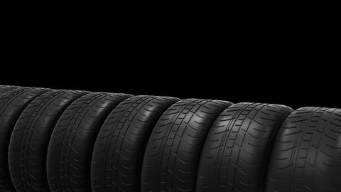 Car tyres animation with alpha channel Animation