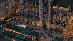 Christmastime in Munich, Bavaria Footage