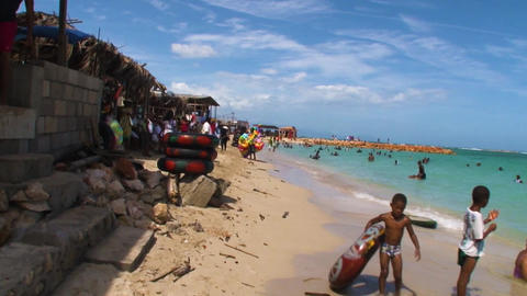Jamaica Beach near Kingston June 2017 Archivo