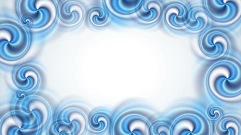 Blue abstract swirl shapes video animation Animation