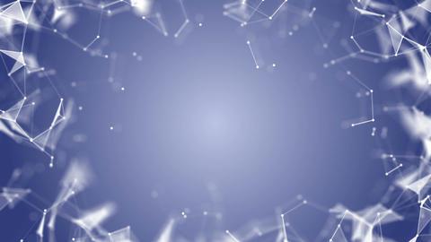 Plexus Blue Polygonal Background.dark blue network. place for text. cinematic Live Action