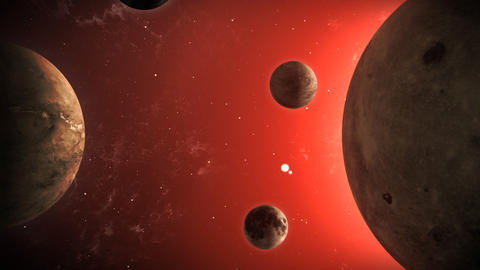 Planetary bodies Animation