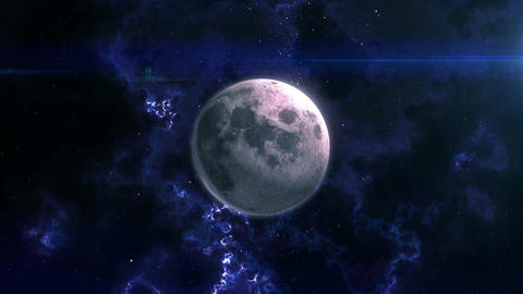 The Moon Reveal in Space Animation