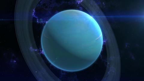 Uranus Reveal in Space Animation
