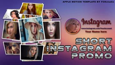 Short Instagram Promo แม่แบบ Apple Motion