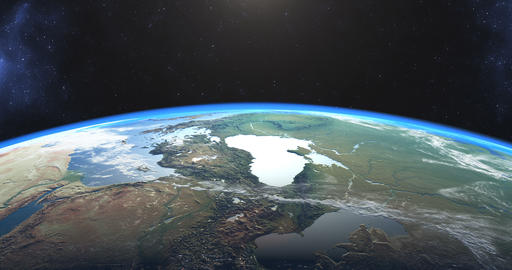 Beautiful footage of sunset over Earth Stock Video Footage