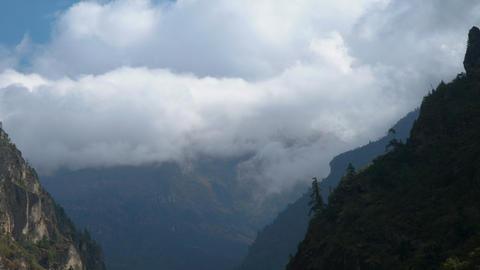 Clouds in the Himalayas Footage