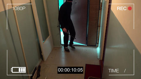 the masked robber burst through the door and stole the fender off the bike Footage