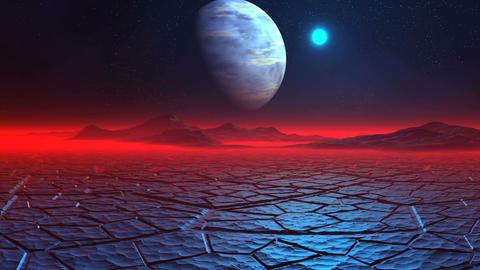 Ice Desert on the Alien Planet Animation
