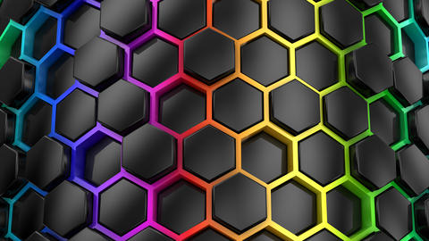 Background From Hexagons Animation