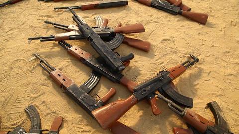 Guns in Desert sand Live Action