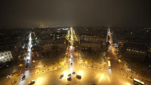 Paris by night from above Footage