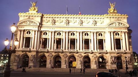 Famous Opera Garnier of Paris Footage