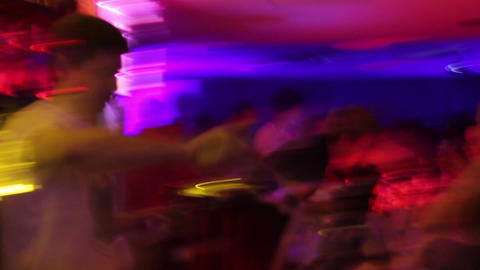 Blurry View Of Night Club's Bar - Drugs, Alcohol, Disease, Vision stock footage
