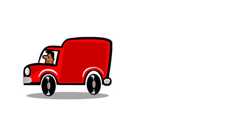 Van driving Animation