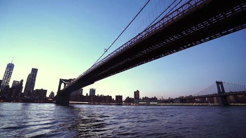 Manhattan Bridge over Hudson River New York - MANHATTAN, NEW YORK/USA APRIL 25,  Footage