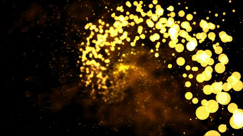 Abstract Particle Light Spiral - Loop Golden Animation