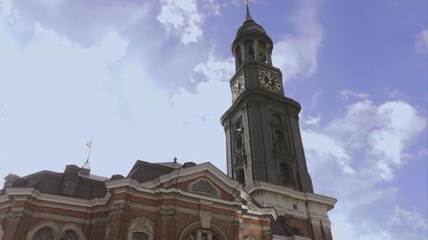 Hamburg Church St. Michaelis called Michel - HAMBURG, GERMANY DECEMBER 23, 2015 Footage
