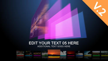 Dynamic Colors (V.2) - After Effects Template stock footage